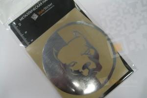 Металлическая наклейка Питбуль большой