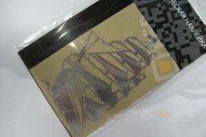 Металлическая наклейка Парусник Красивая и детализированная наклейка из тонкого